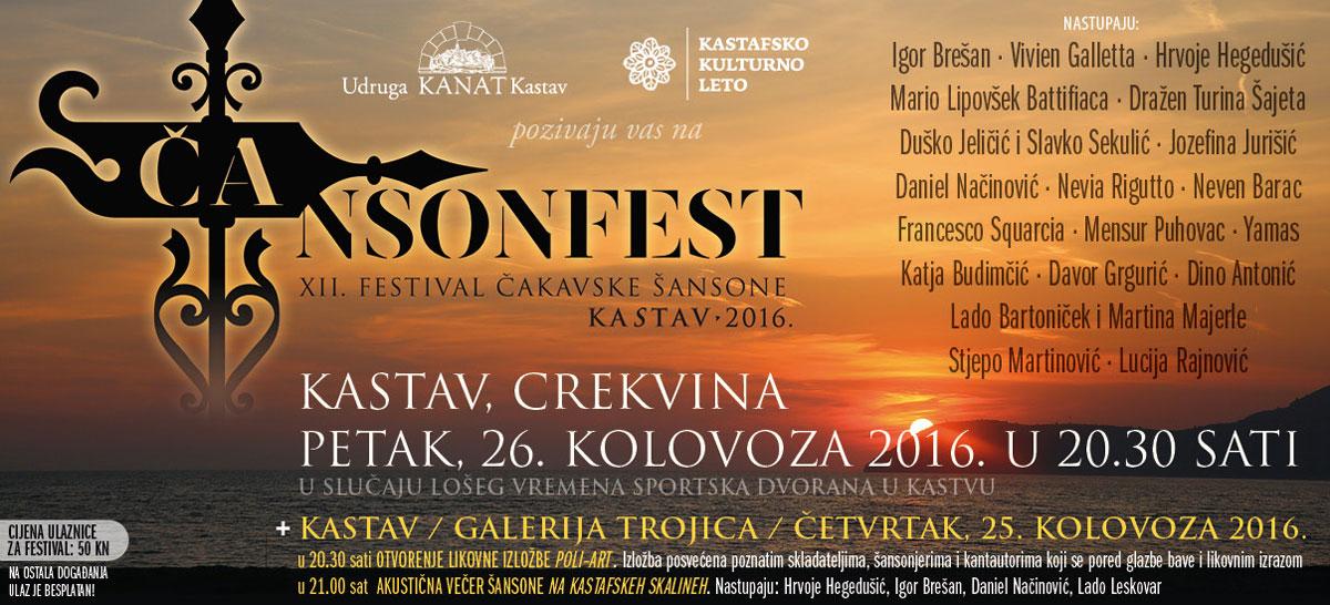 12. ČAnsonfest – Kastav 2016.